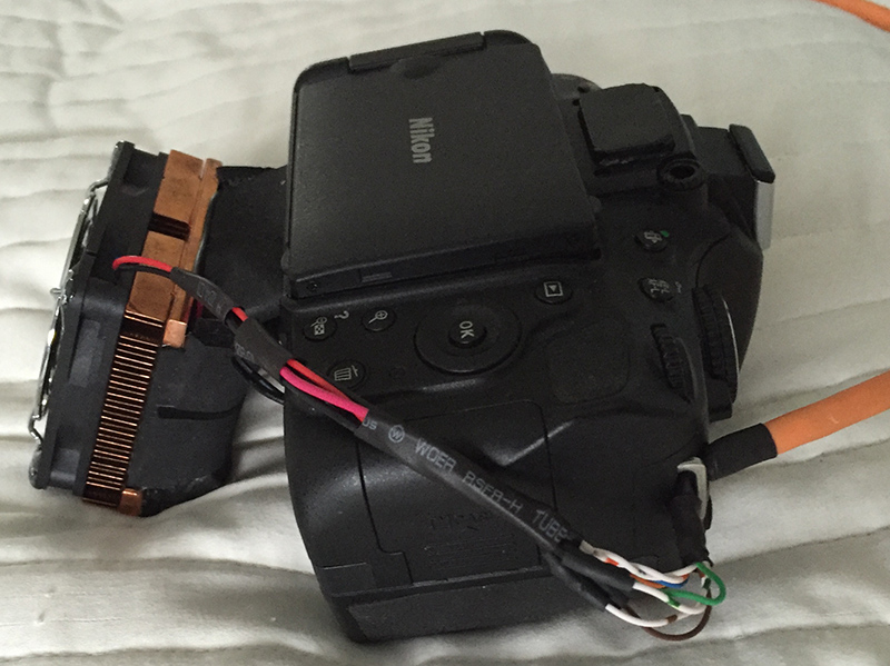Nikon d5100ac astrocool modified dslr camera for astrophotography