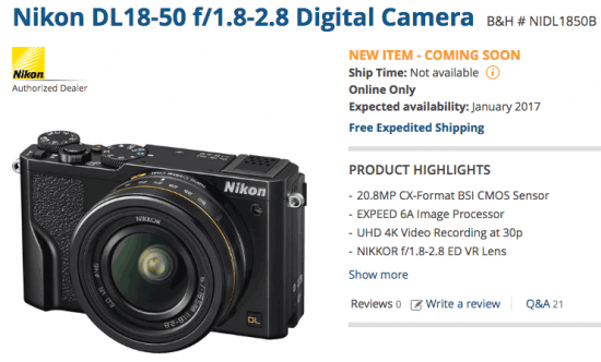 nikon-dl-camera-shipping-date