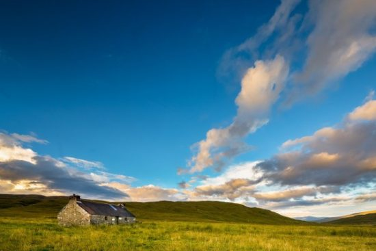 We slept in this bothy (Meanach) to hide from the midges.