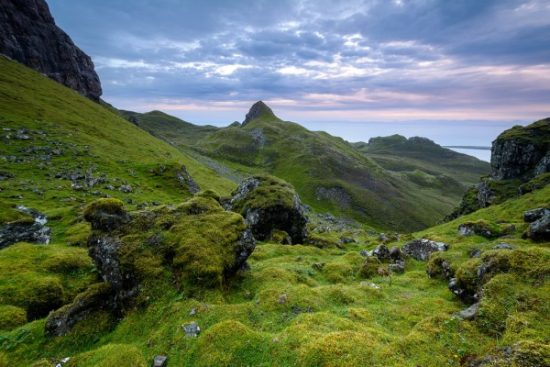 You'll run in to all sorts of impressive landscapes while hiking The Quiraing.