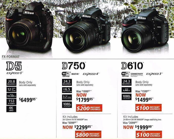 Nikon 2016 Black Friday deals leaked online | Nikon Rumors
