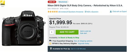 refurbished-nikon-d810-camera-deal