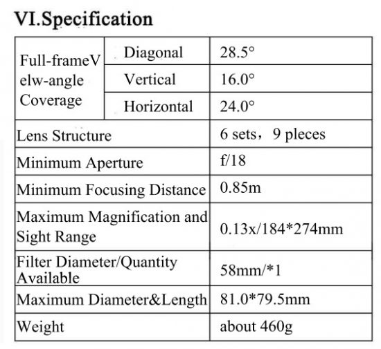 yongnuo-yn-85mm-f1-8-lens-specifications
