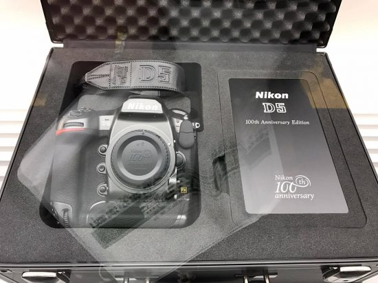 Nikon D5 and D500 100th anniversary sets on display at the CP+ show