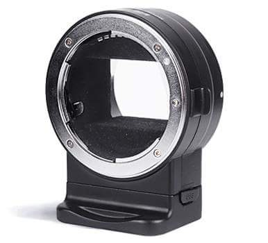 Viltrox NF-E1 electronic autofocus adapter for mounting Nikon F-mount lenses on Sony E-mount cameras