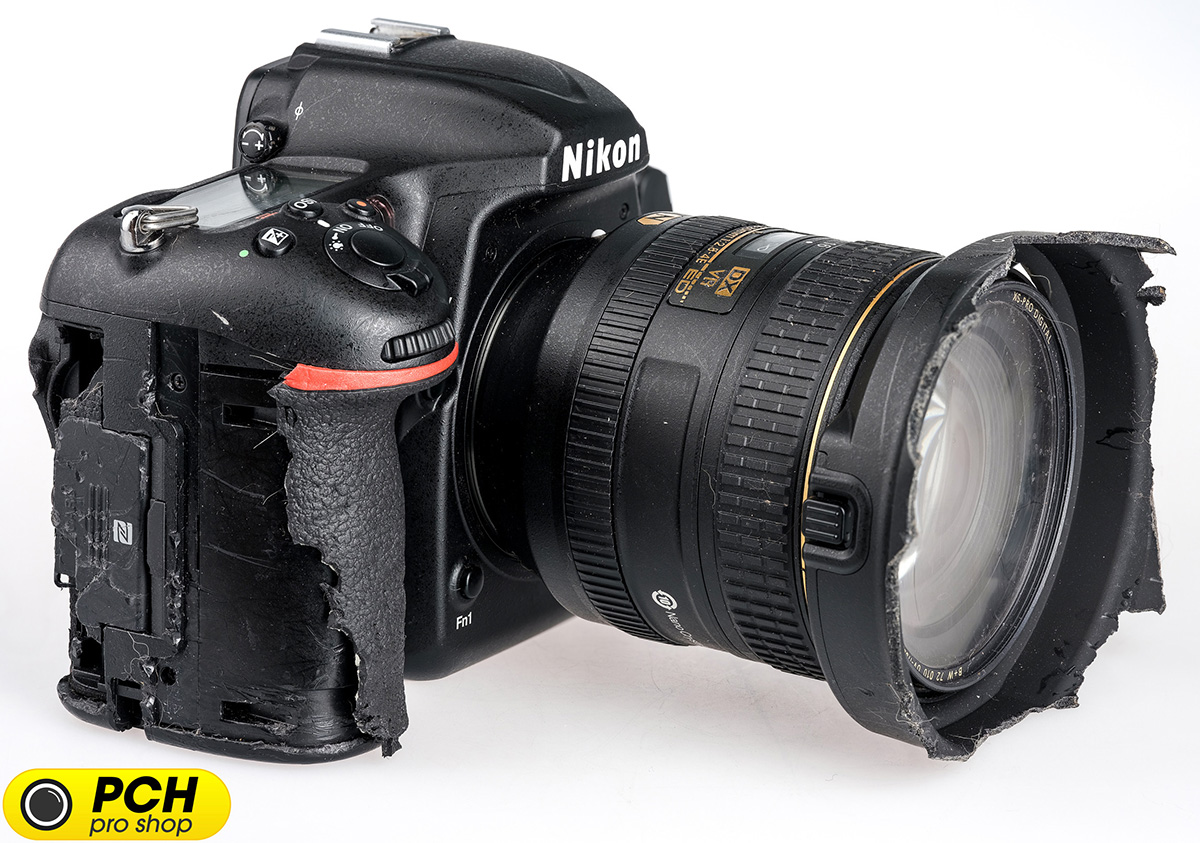 This Nikon D500 Camera Still Works After Getting Destroyed By A Where To Get Parts Diagram For D5000 Slr With Dx Vr Afs The Belgian Photo Store Pch Sent Me Story Of Being Chewed German Shepherd Named Rex While Some Plastic Is Gone