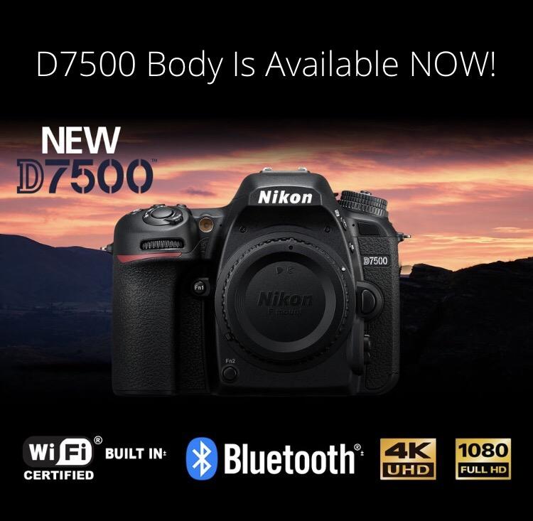 Nikon D7500 camera now in stock