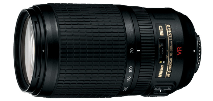 Nikon AF-S NIKKOR 70-300mm f/4.5-5.6G IF-ED VR lens listed as discontinued