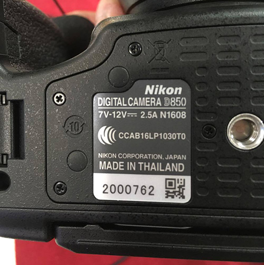 Nikon-D850-DSLR-camera-is-made-in-Thaila