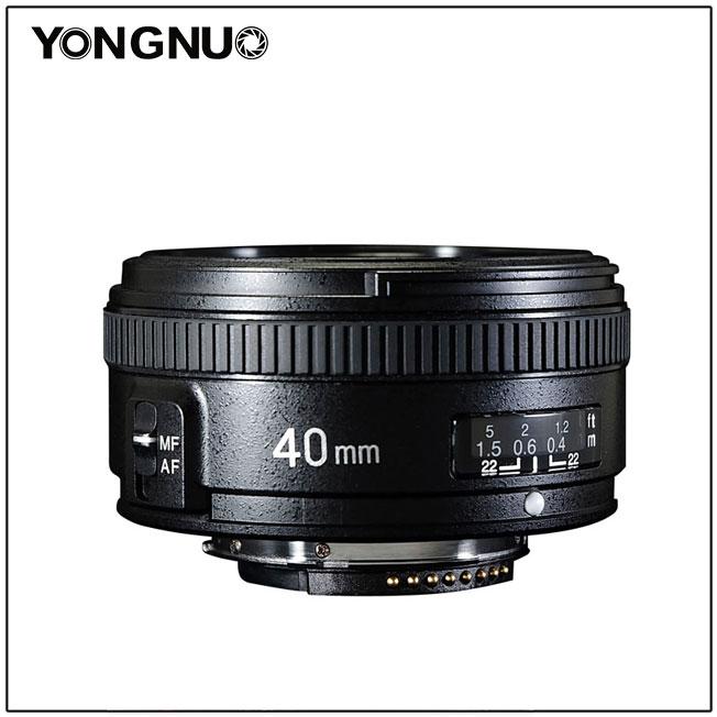 New: Yongnuo YN 40mm f/2 8N and 100mm f/2N full frame DSLR