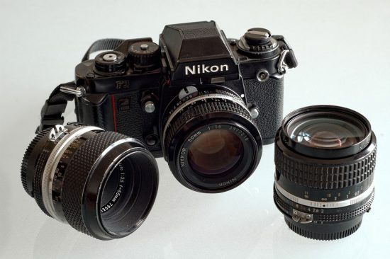 Nikon F3 camera and lenses