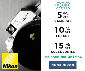 Weekly nikon news flash 439 nikon rumors keh is running a 3 day nikon sale where you can get 5 off cameras 10 off lenses 15 off accessories with coupon code nrumors10a valid october 9 11 fandeluxe Gallery
