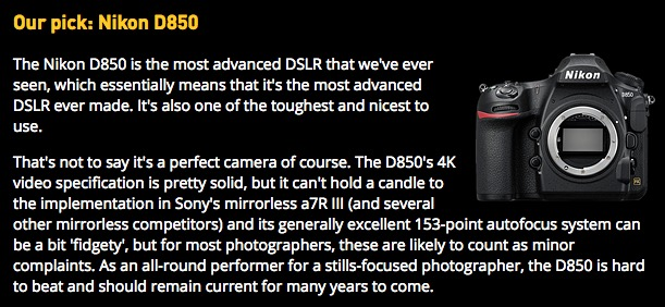 Nikon DSLR cameras dominate four out of five