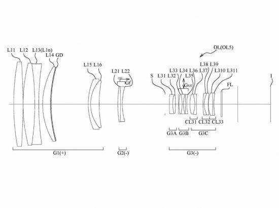 Nikon 600mm f:5.6 lens patent