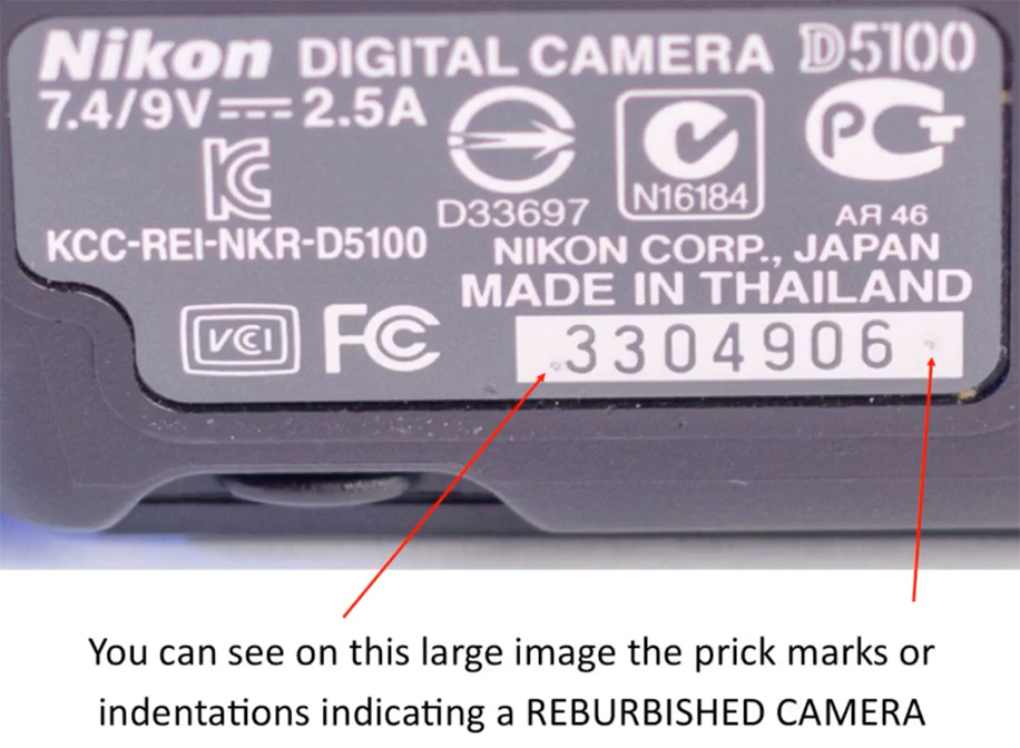How to identify a refurbished Nikon camera or a lens