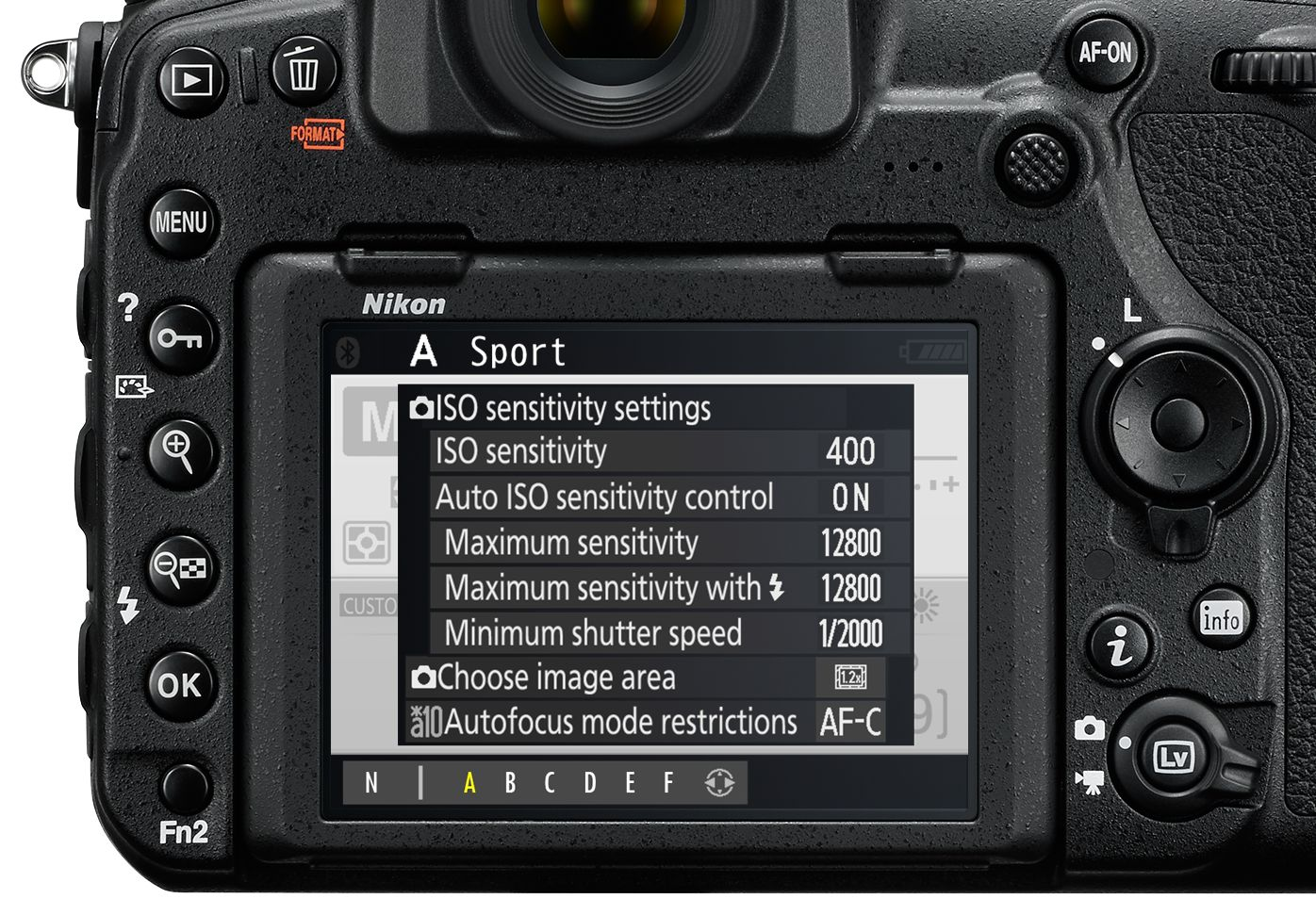 Nikon D850 suggestion for fast changeable user settings