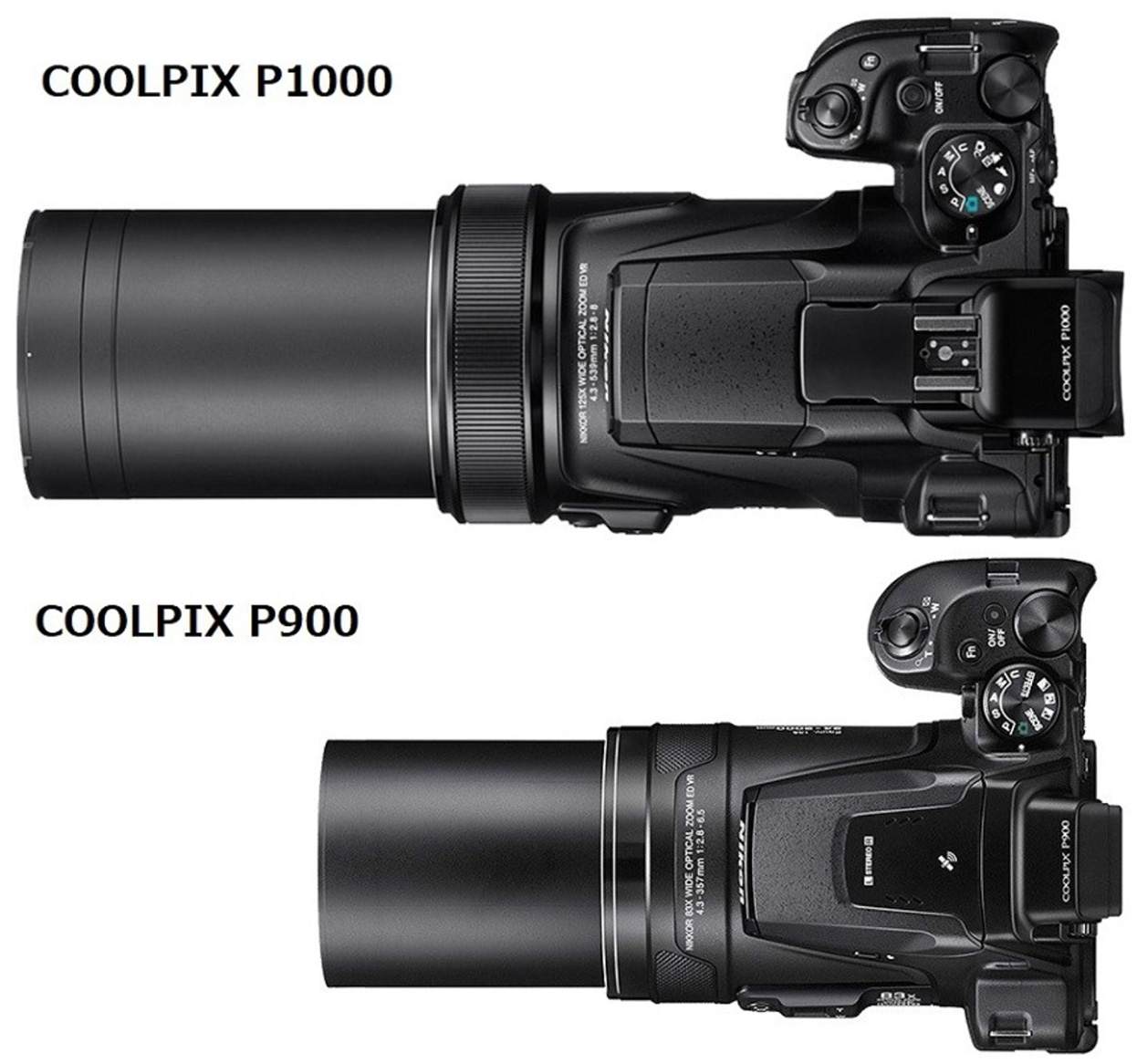 Nikon Coolpix P1000 vs  Nikon Coolpix P900 specifications