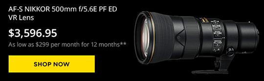 First Nikon AF-S NIKKOR 500mm f/5 6E PF ED VR lens reviews