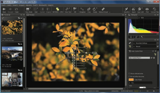 Color control points coming in the next update of Nikon Capture NX-D