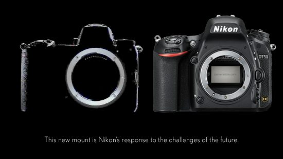 Nikon mirrorless camera compared with D750 © Eno