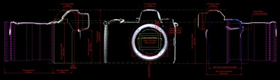 Nikon mirrorless camera dimensions © L Johnson