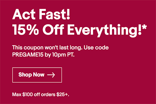 Ebay active coupons today