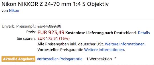 Big Nikon Z6 price drop on Amazon Germany