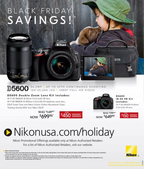 Here are the leaked 2018 Nikon Black Friday deals