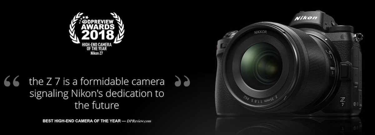 The Nikon Z7 got the high-end camera of the year award at Dpreview
