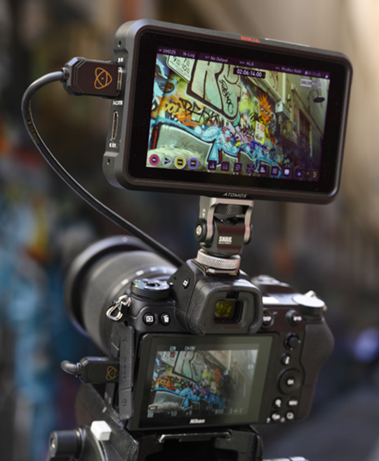"""Atomos ProRes RAW updates from the IBC 2019 show: """"we're not the only feature they (Nikon) are upgrading, they have some new autofocus on those cameras"""""""