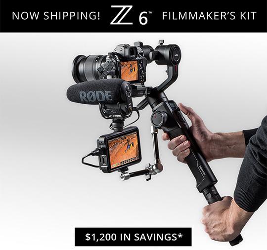 Nikon Z6 filmmaker's kit now shipping