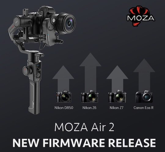 Moza Air 2 gimbal stabilizer firmware update released with Nikon Z6