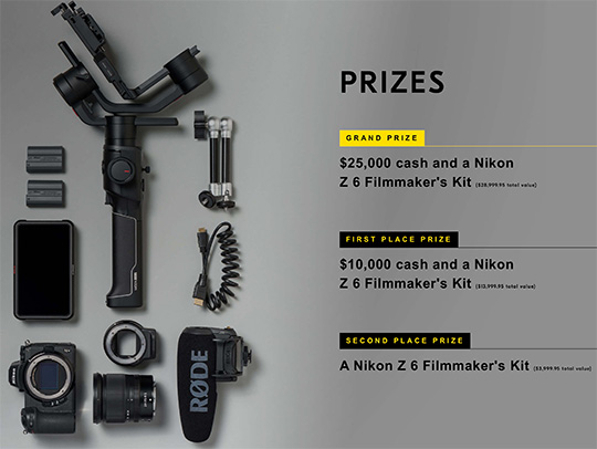 "Nikon video contest challenges creators to ""Follow Your Passion"" for a chance to win $25,000 and a Nikon Z6 filmmakers' kit"