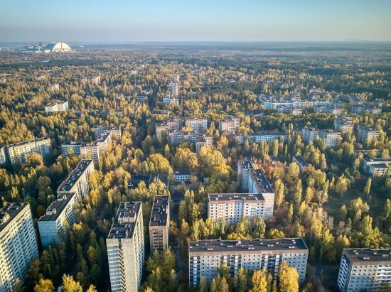 Aerial view of Pripyat