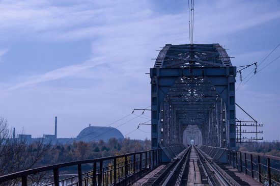 Train bridge near Chernobyl Nuclear Power Plants
