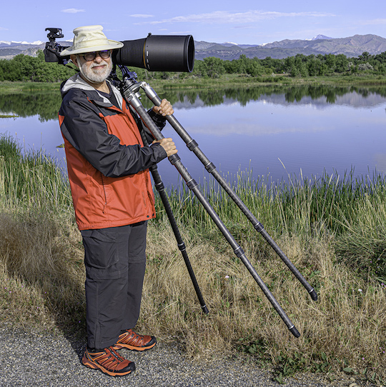 The author carrying E9 with Nikon z7 + Nikkor 600mm F4E + TC-17