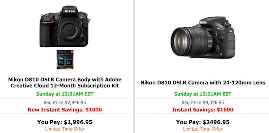 Nikon D5, D810 new price drop now live - Nikon Rumors