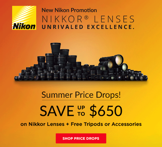 Nikon starts new lens-only rebates in the US – up to $650 off 28 different Nikkor lenses