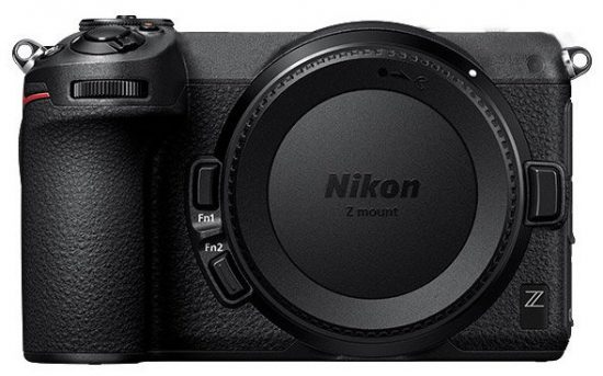 Nikon Z mirrorless APS-C camera mockup