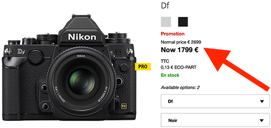 I think the Nikon Df camera will be discontinued next