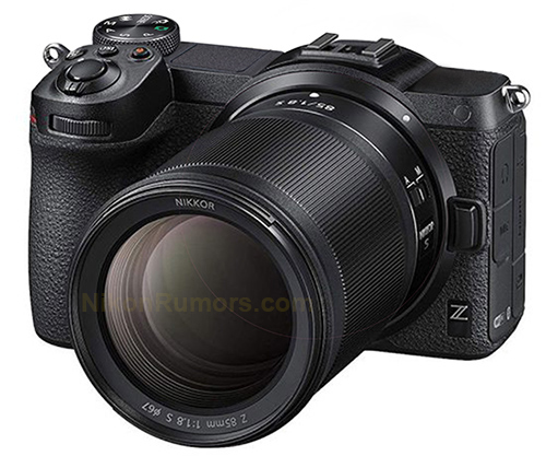 Nikon Z mirrorless APS-C camera mockups