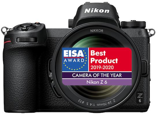 EISA awards for the Nikon Z6 camera and Nikkor Z 24-70mm f/2.8 S lens