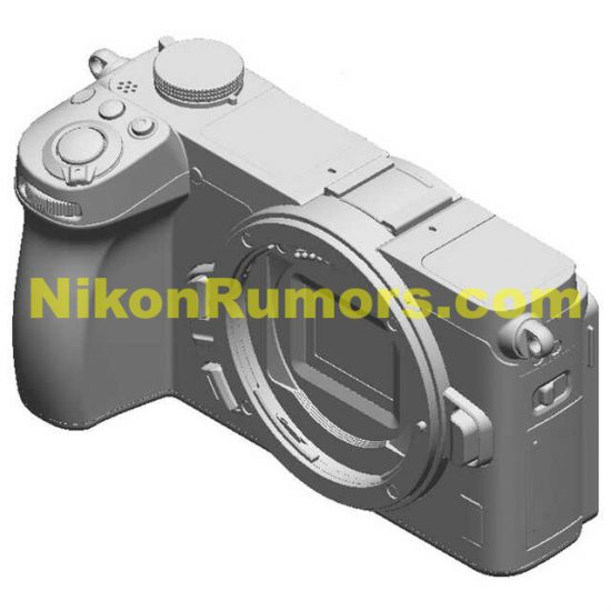Nikon has design patents for two different APS-C mirrorless cameras