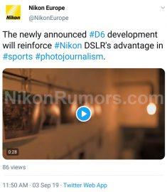 Nikkor Z 24mm f/1 8 S lens, Nikon D6 DSLR camera development