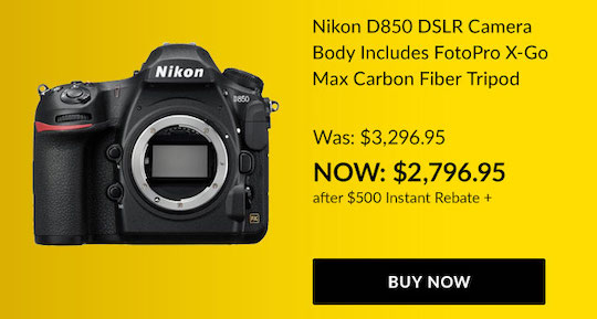 The Nikon D850 and the Nikon Z7 are now both $2,796: the D850 got another $200 price drop, the Z7 got a $200 trade-in