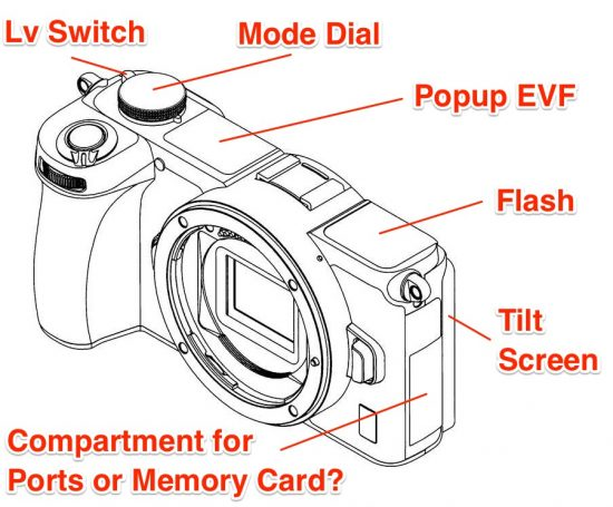 Nikon Z mirrorless APS-C camera desing patent