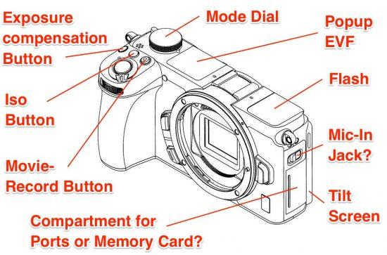 Nikon Z mirrorless APS-C camera desing patent