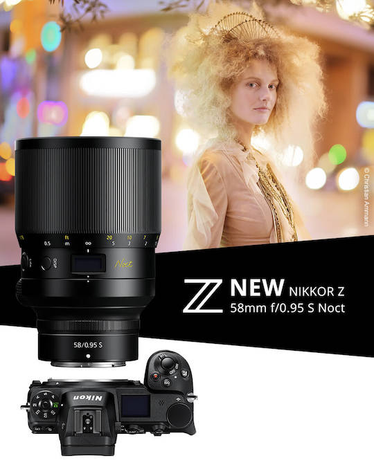 Nikon NIKKOR Z 58mm f/0.95 S Noct lens now shipping in the US