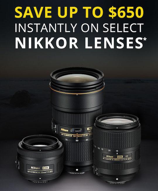 Nikon introduced new rebates on 28 different Nikkor lenses