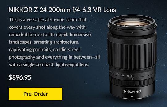 Nikon NIKKOR Z 24-200mm f/4-6.3 VR lens delayed again?